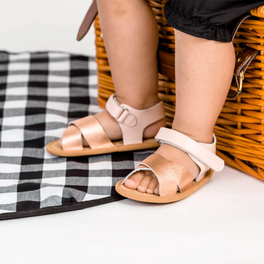 Pretty Brave Valencia Sandal – Rose Gold lifestyle 1