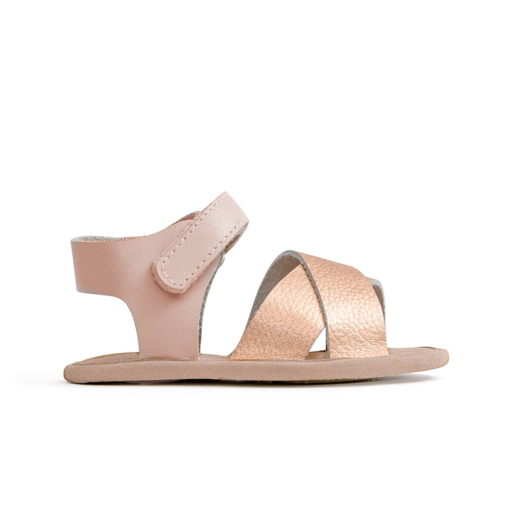 Pretty Brave Valencia Sandal – Rose Gold pair
