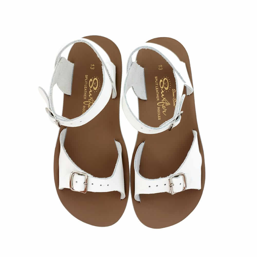 Sun-San Surfer Sandals – White Top