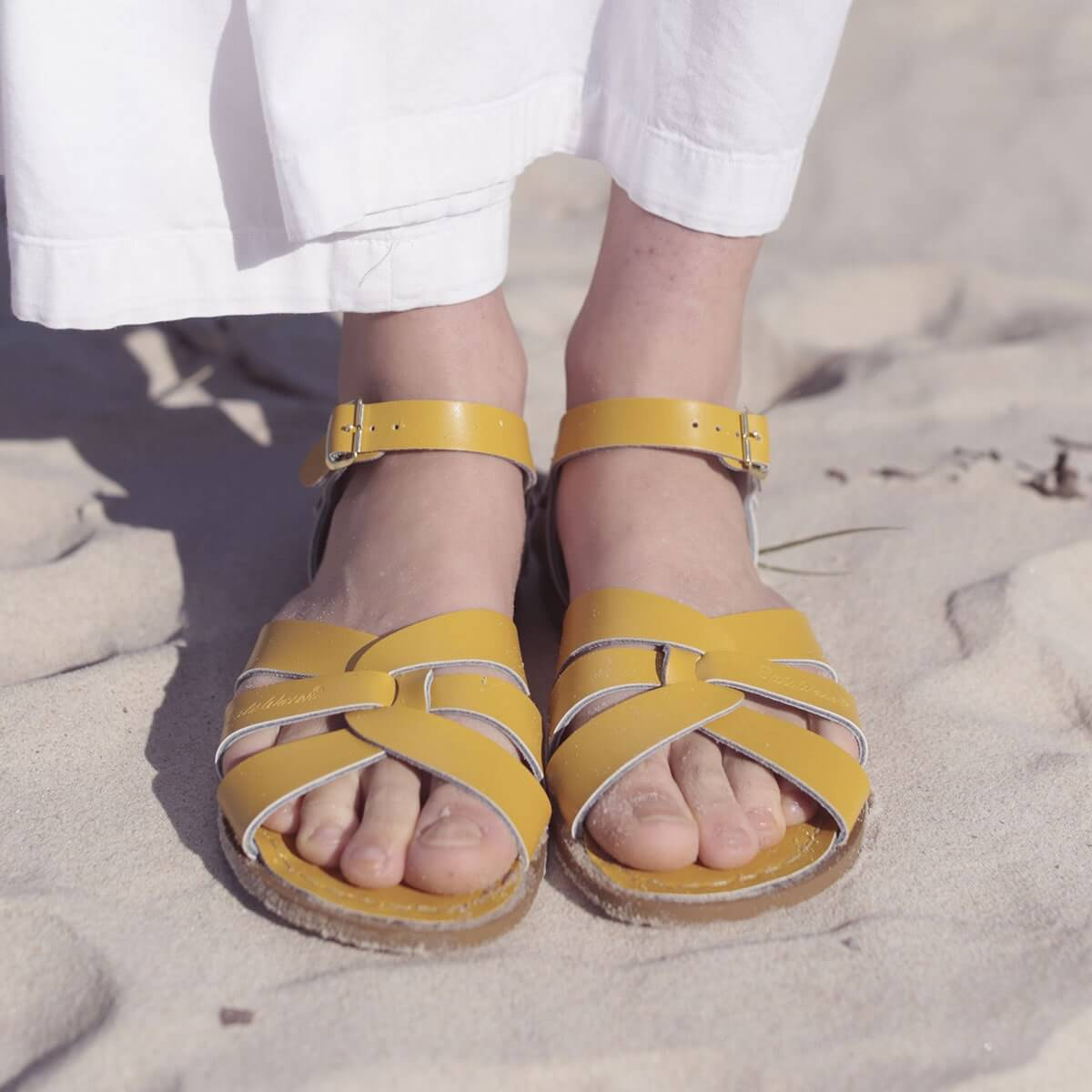 Saltwater Sandals Original - Mustard Yellow (Baby, Kids & Youth)