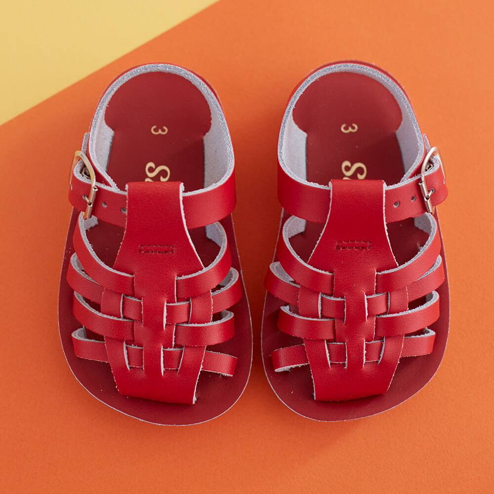 Sun San Sailor Sandals – Red Lifestyle 2