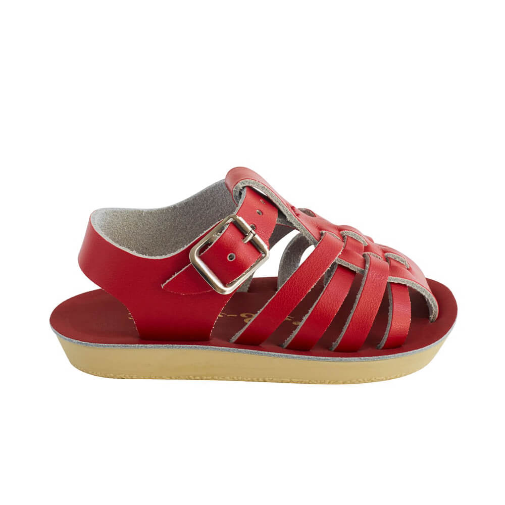 Sun San Sailor Sandals – Red Side