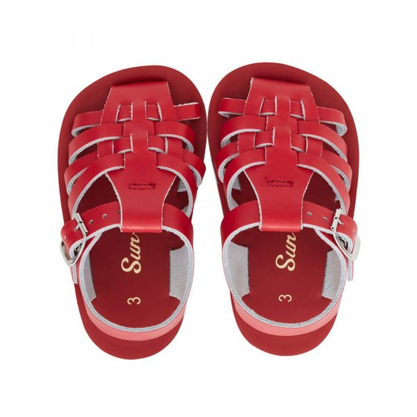 Sun San Sailor Sandals – Red Top