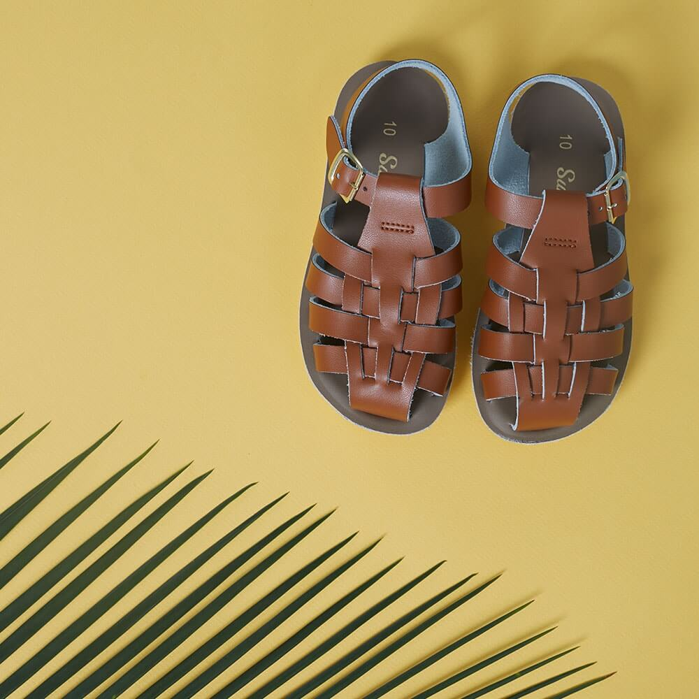 Sun San Sailor Sandals – Tan Lifestyle 1