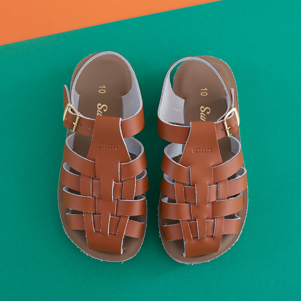 Sun San Sailor Sandals – Tan Lifestyle 2