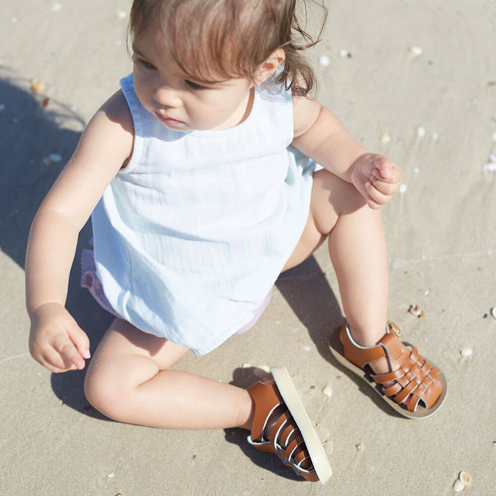 Sun San Sailor Sandals – Tan Lifestyle 4