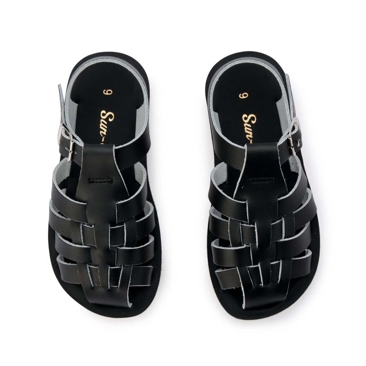 Saltwater Sandals Sun San Sailor Black