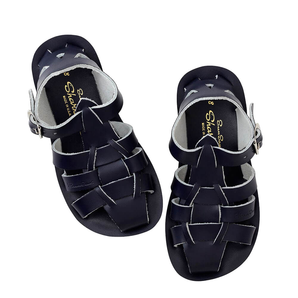 Sun-San Shark Sandals – Navy Top Angle