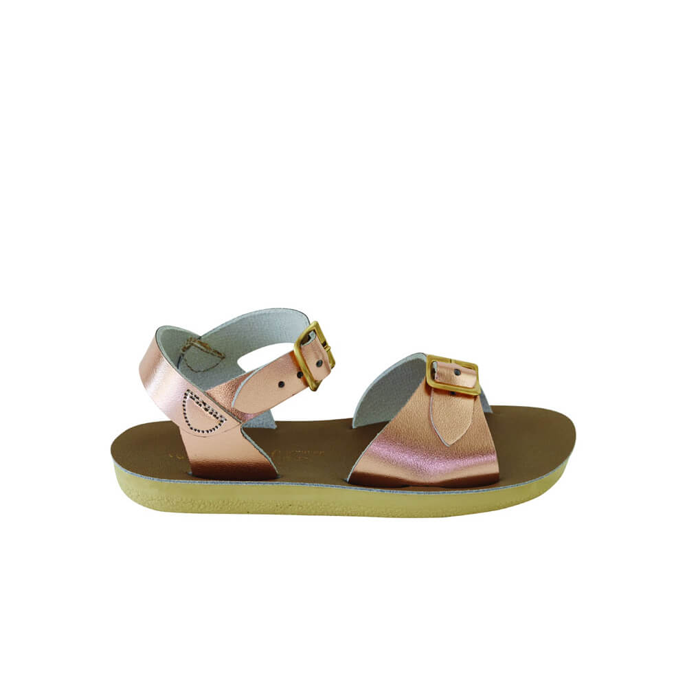 4dcb01a43ee5 Salwater Sandals Sun-San Surfer - Rose Gold - Camino Kids