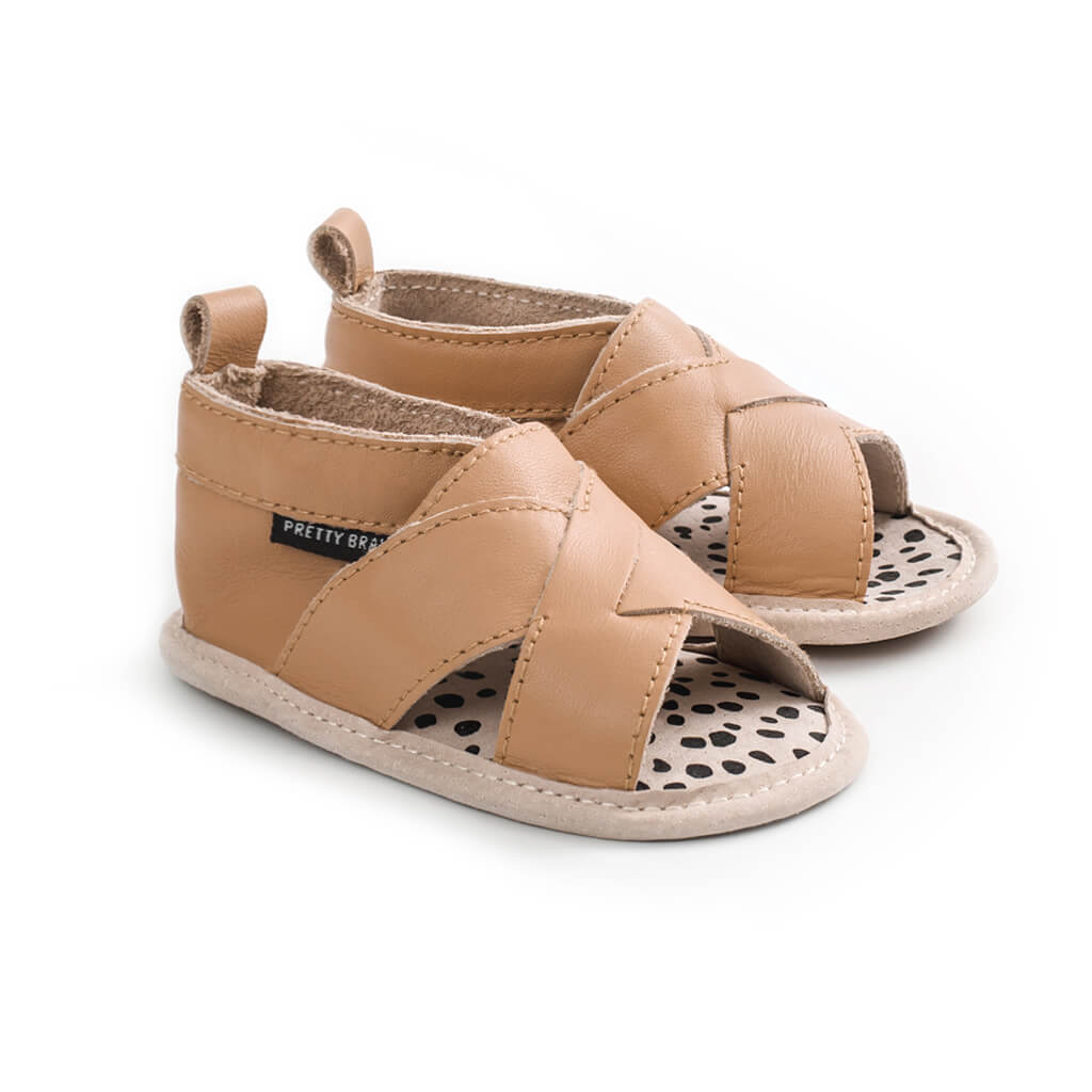 Pretty Brave Cross Over Sandal – Tan side pair