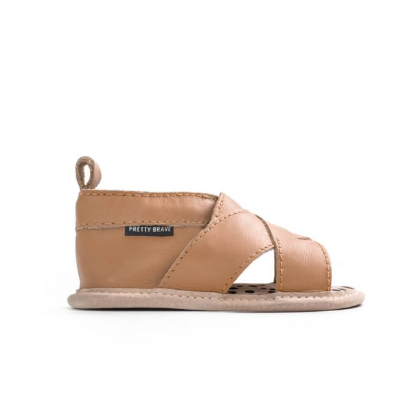 Pretty Brave Cross Over Sandal – Tan side