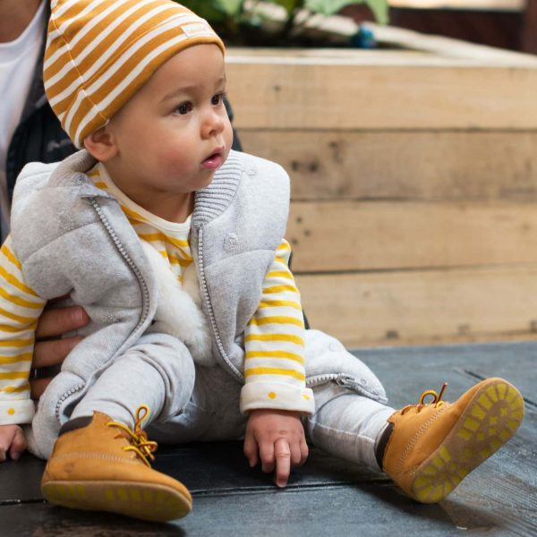 Timberland Baby Crib Bootie with Beanie - Tan 1