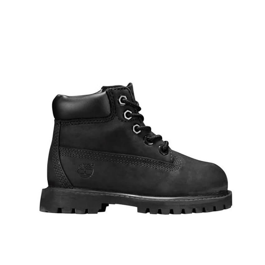 Timberland Kids 6-Inch Premium Boot (Black) - Side