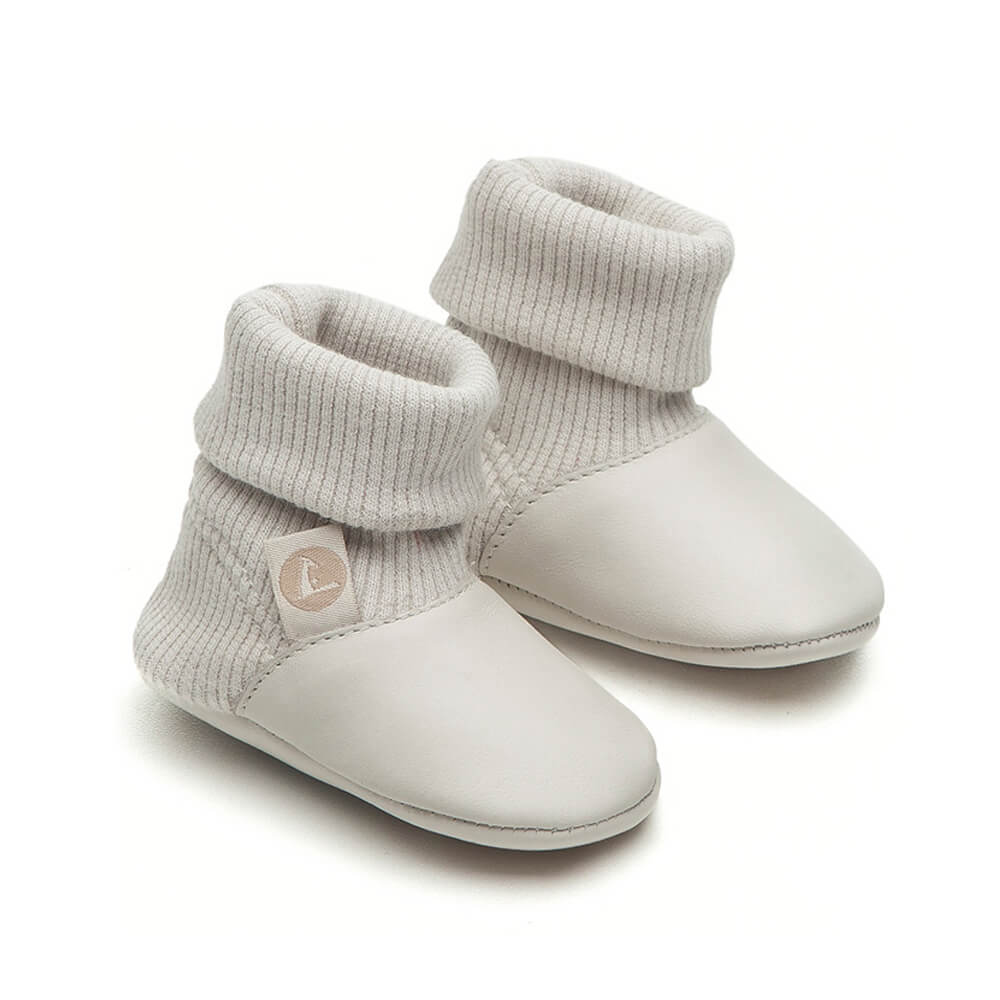 Tip Toey Joey Newborn Laugh – White (Tapioca) side