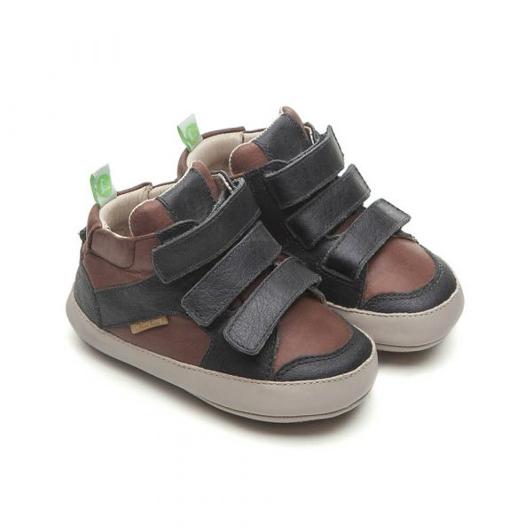 Tip Toey Joey Metropoly Baby Boot – Black / Old Tan Side