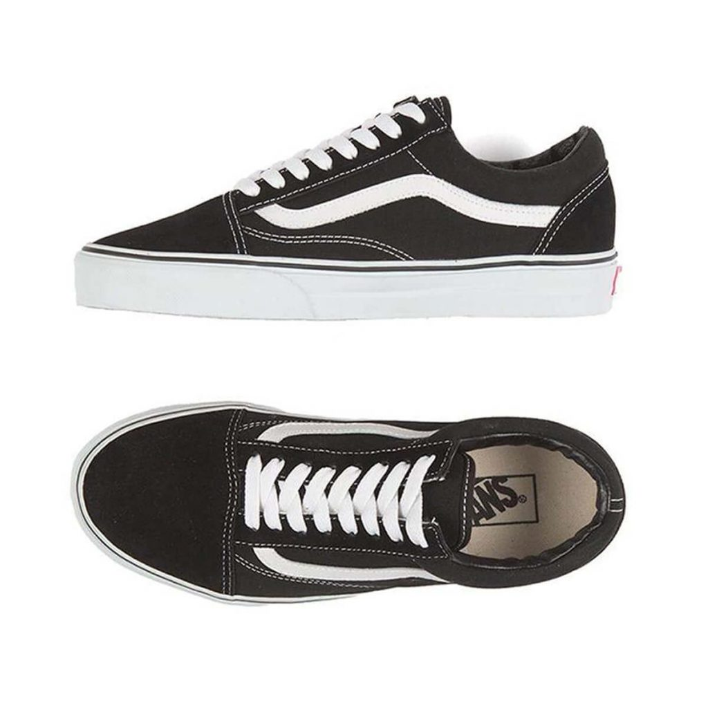 van kids old skool black top