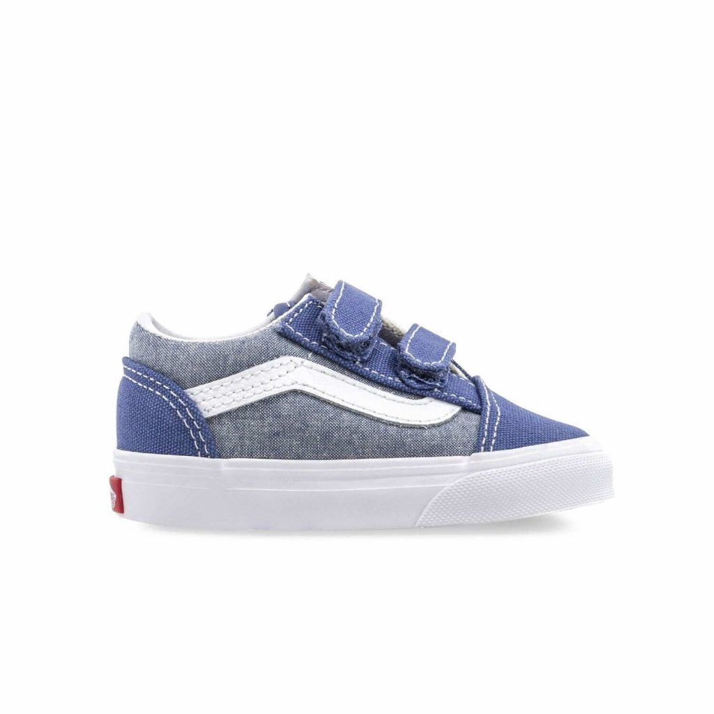 61255af3d Vans Toddler Old Skool V Shoes - Chambray (1-4 yrs) - Camino Kids