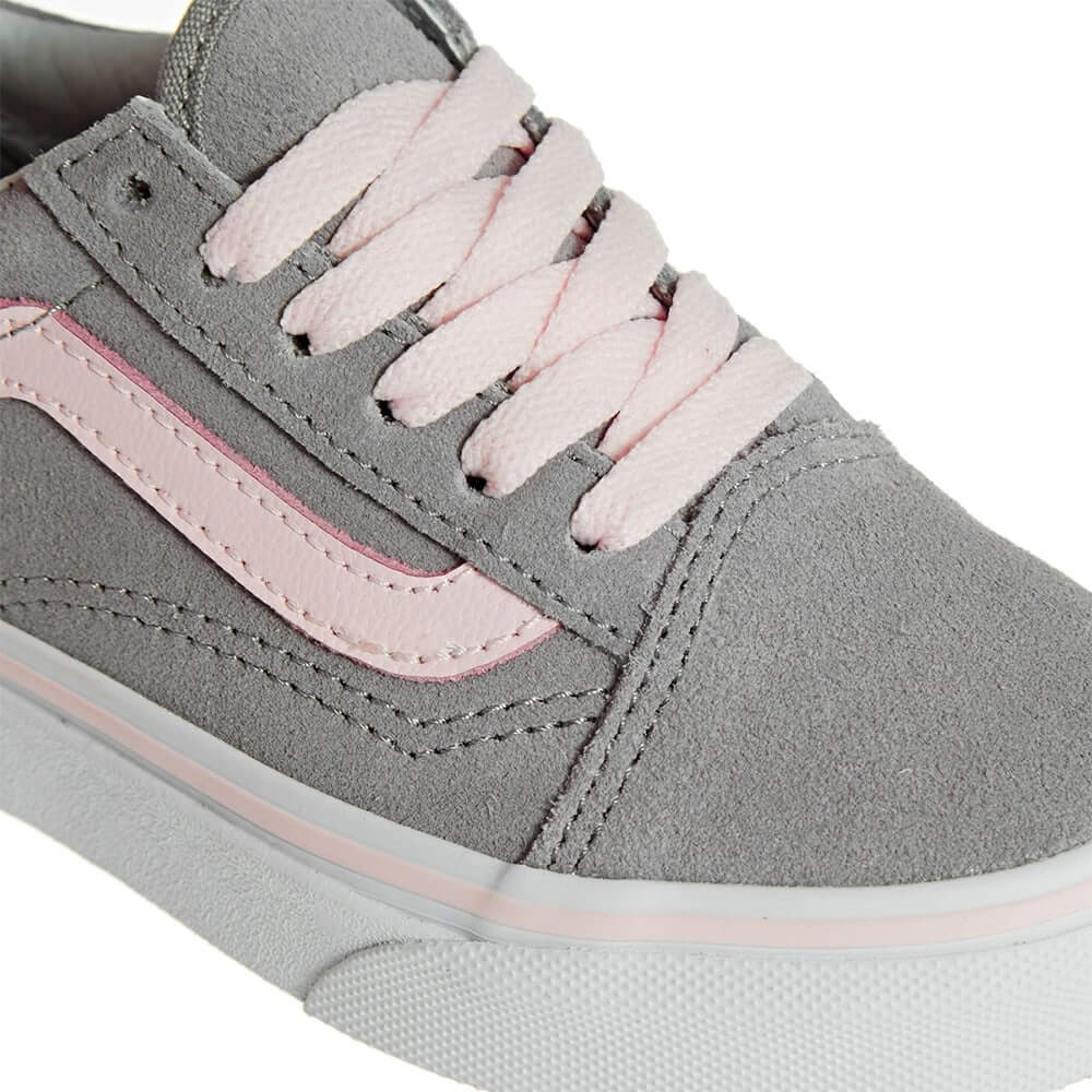 05826d74a80 Vans Kids Old Skool V Sneaker – Alloy Heavenly Pink Suede (9mths-5yrs)