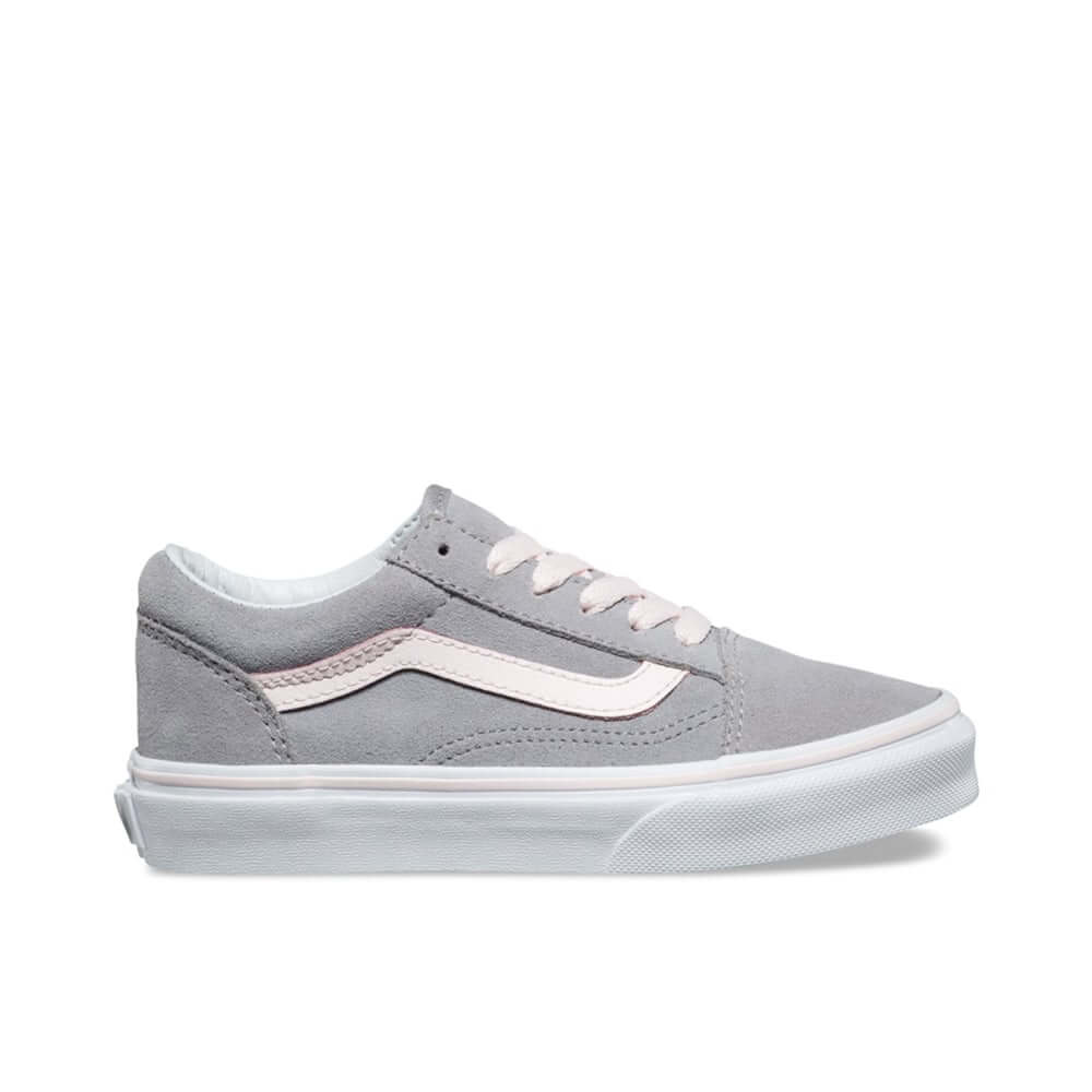 91f9d2f50aa Vans Kids Old Skool V Sneaker - Alloy Heavenly Pink Suede (9mths ...