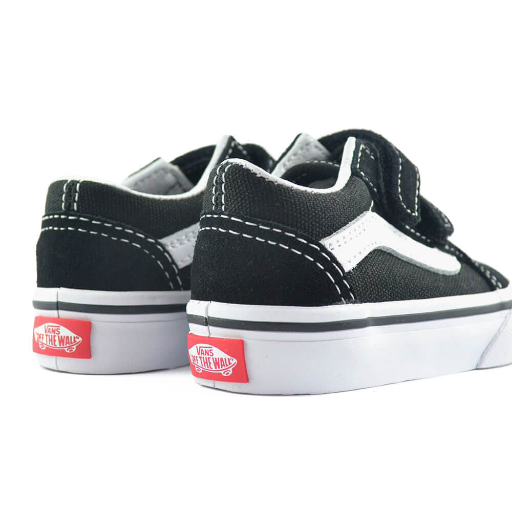 vans kids old skool v sneaker black pair