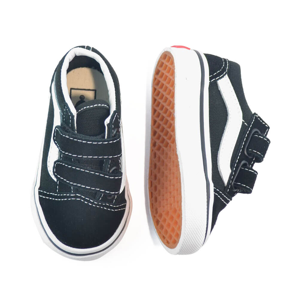 vans kids old skool v sneaker black top angle