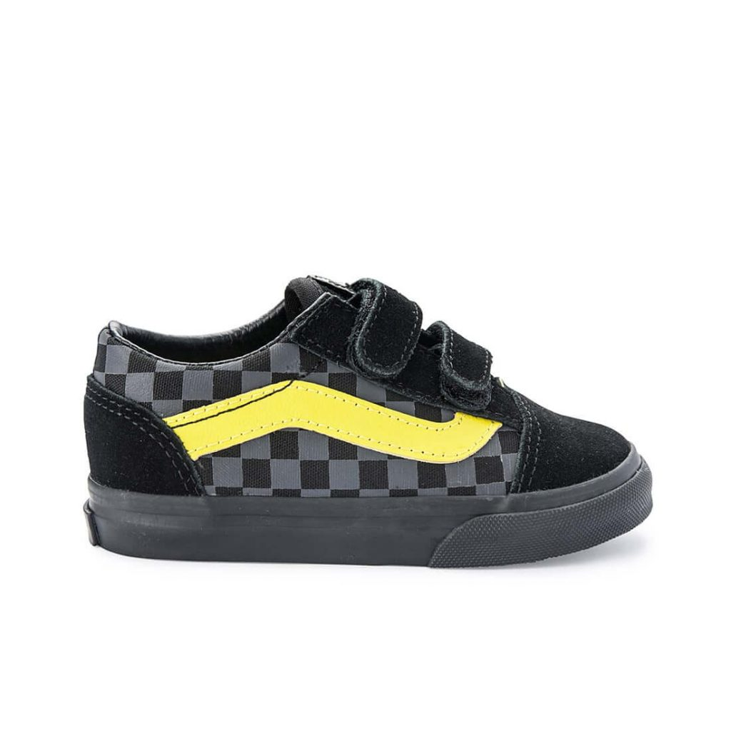 Vans Kids Old Skool V Sneaker – Checkerboard Asphalt/Reflective side