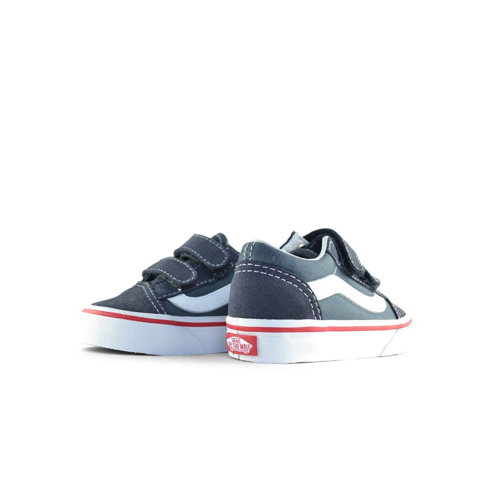 Vans Kids Old Skool V Sneaker – Parisian Navy Blue angle pair