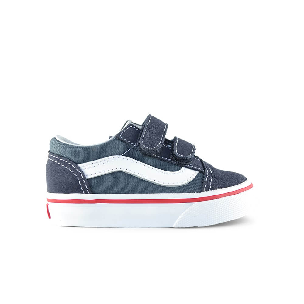 Vans Kids Old Skool V Sneaker – Parisian Navy Blue side