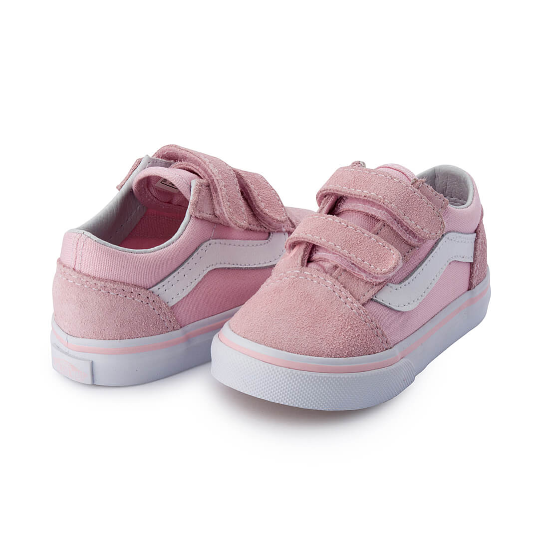 Vans Kids Old Skool V Sneaker – Pink angle pair