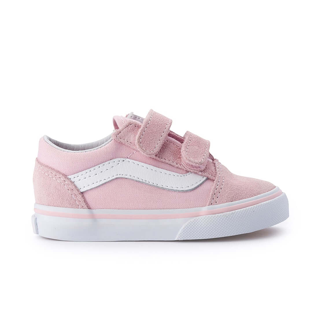 Vans Kids Old Skool V Sneaker – Pink side