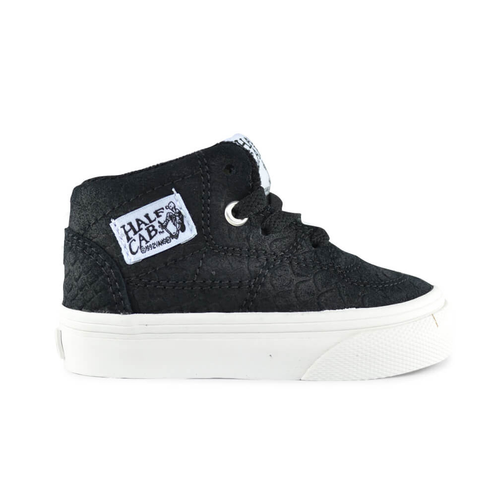 vans kids half cab snake sneaker black side
