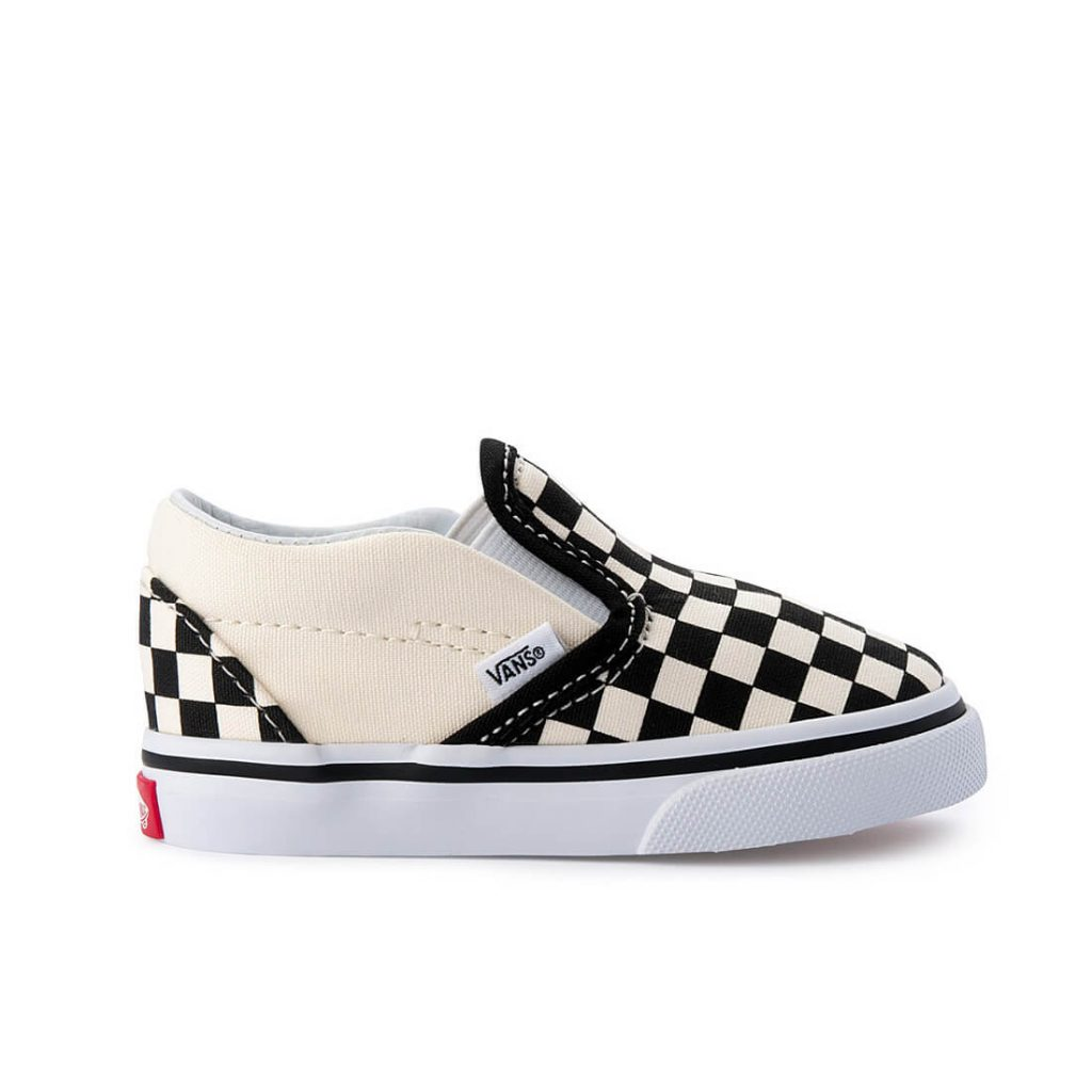 7db3f59a0bcd Vans Classic Slip On – Black White Checkerboard - Camino Kids