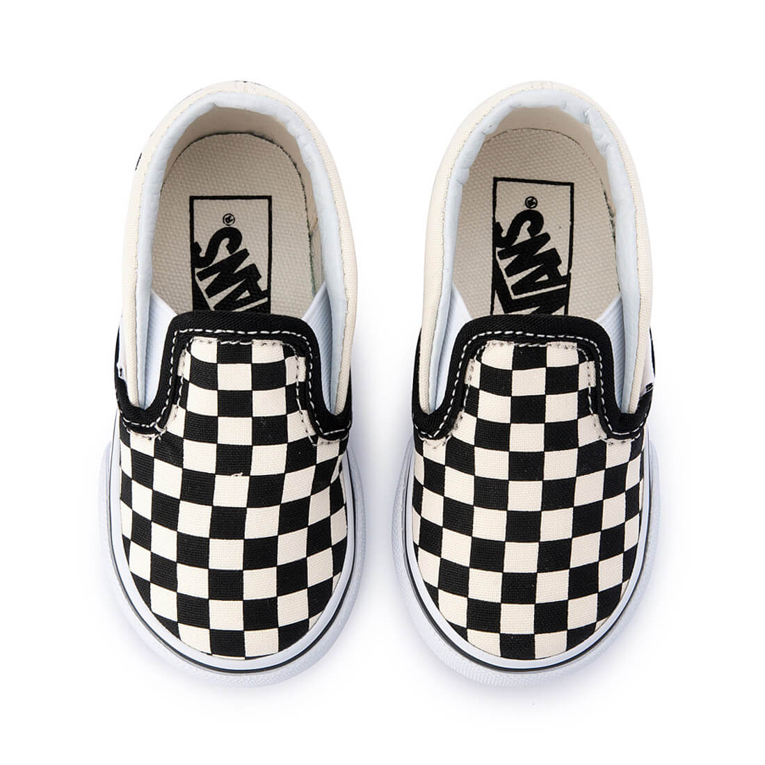 Vans Toddler Classic Slip On – Black/White Checkerboard top