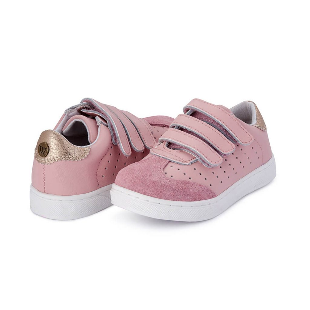 Andy Leather Sneaker – Pink Blush angle