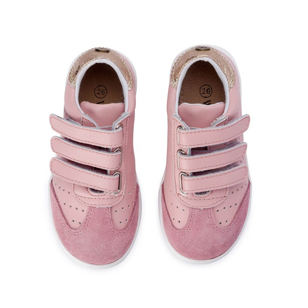 Andy Leather Sneaker – Pink Blush top
