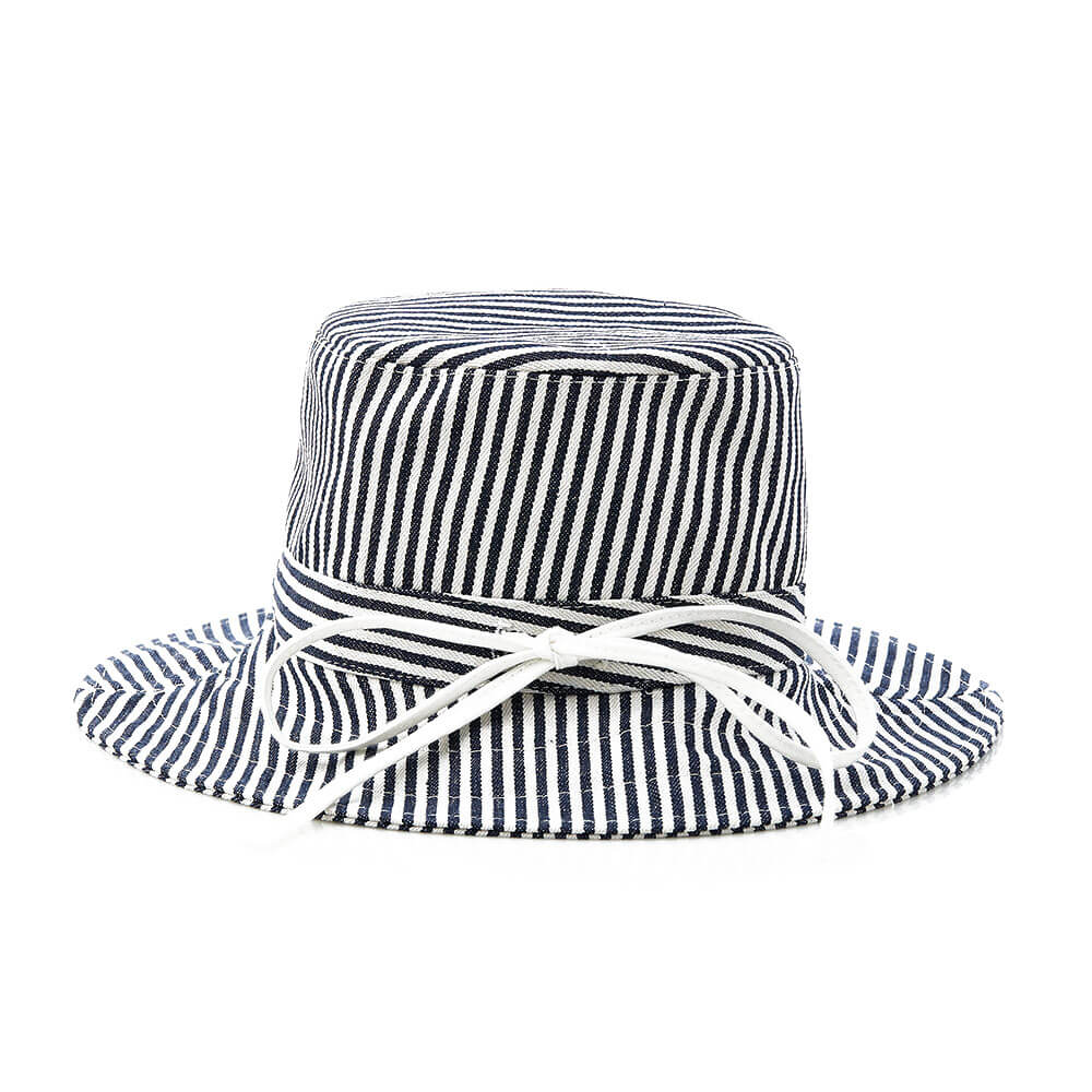 Kip & Co Sunny Hat – Navy/White Stripe Side