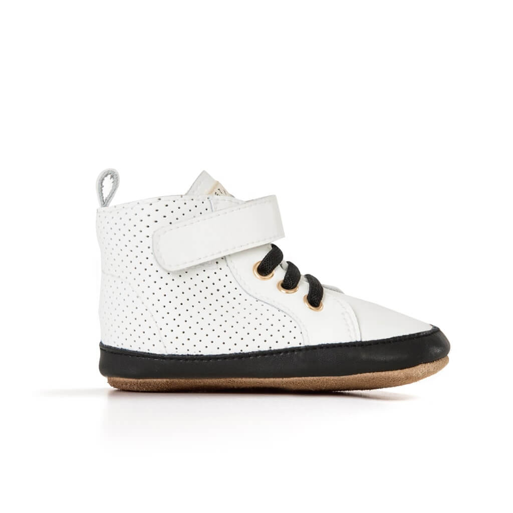 Pretty Brave Toddler Shoes Hi Top Boot White Side