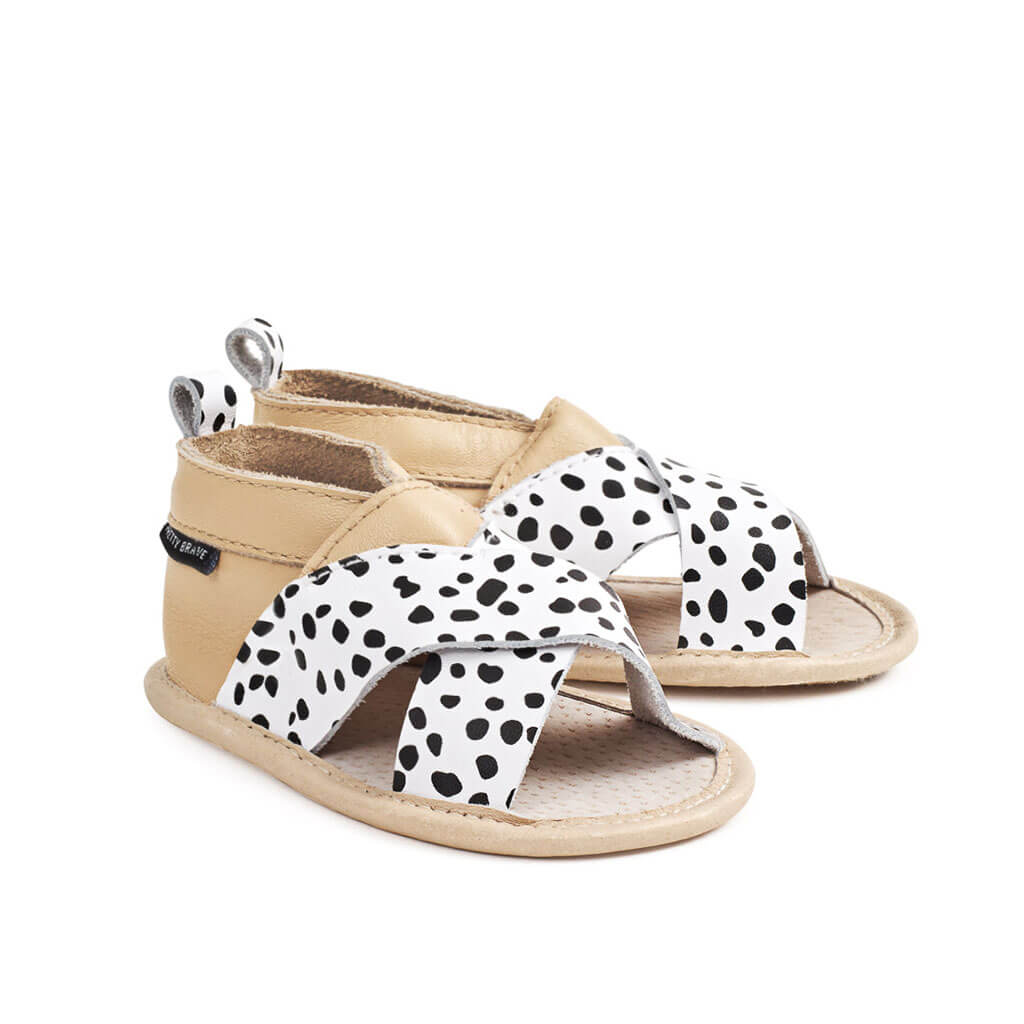 Wild Spots Criss Cross Sandal Pair Pretty Brave